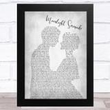 Glenn Miller Moonlight Serenade Man Lady Bride Groom Wedding Grey Song Lyric Music Art Print