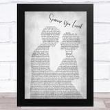 Lewis Capaldi Someone You Loved Man Lady Bride Groom Wedding Grey Song Lyric Music Art Print
