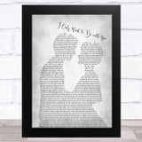 Dusty Springfield I Only Want to Be with You Man Lady Bride Groom Wedding Grey Song Lyric Music Art Print