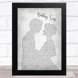 Bob Dylan Wedding Song Man Lady Bride Groom Wedding Grey Song Lyric Music Art Print