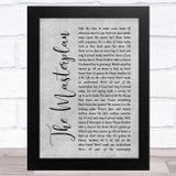 Oasis The Masterplan Grey Rustic Script Song Lyric Music Art Print