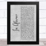 Silent Planet In Absence Grey Rustic Script Song Lyric Music Art Print