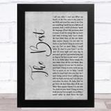 Tina Turner The Best Grey Rustic Script Song Lyric Music Art Print