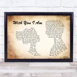 Cody Johnson With You I Am Man Lady Couple Song Lyric Music Art Print