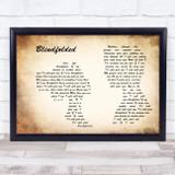 Kris Allen Blindfolded Man Lady Couple Song Lyric Music Art Print