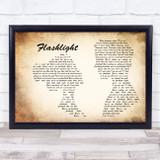 Jessie J Flashlight Man Lady Couple Song Lyric Music Art Print