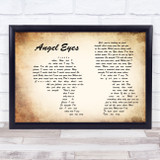 The Jeff Healey Band Angel Eyes Man Lady Couple Song Lyric Music Art Print