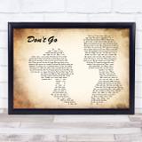 Wretch 32 Don't Go Man Lady Couple Song Lyric Music Art Print