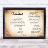 Shane MacGowan And The Popes With Sinead O'connor Haunted Man Lady Couple Song Lyric Music Art Print