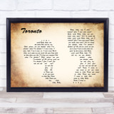 Snoh Aalegra Toronto Man Lady Couple Song Lyric Music Art Print