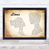Skillet Lions Man Lady Couple Song Lyric Music Art Print