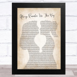 Lady Gaga Always Remember Us This Way Lesbian Women Gay Brides Couple Wedding Song Lyric Music Art Print