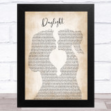 Taylor Swift Daylight Lesbian Women Gay Brides Couple Wedding Song Lyric Music Art Print