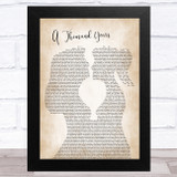 Christina Perri A Thousand Years Lesbian Women Gay Brides Couple Wedding Song Lyric Music Art Print