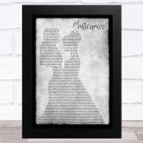 JP Cooper Masterpiece Lesbian Couple Two Ladies Dancing Grey Song Lyric Music Art Print