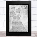Ed Sheeran Perfect Lesbian Couple Two Ladies Dancing Grey Song Lyric Music Art Print