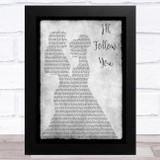 Shinedown I'll Follow You Lesbian Couple Two Ladies Dancing Grey Song Lyric Music Art Print