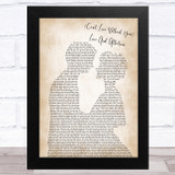 Nelson (Can't Live Without Your) Love And Affection Man Lady Bride Groom Wedding Song Lyric Music Art Print