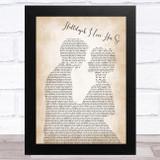 Hugh Laurie Hallelujah I Love Her So Man Lady Bride Groom Wedding Song Lyric Music Art Print