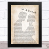 Barry White Just The Way You Are Man Lady Bride Groom Wedding Song Lyric Music Art Print