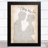 Peaches I Pledge My Love Man Lady Bride Groom Wedding Song Lyric Music Art Print
