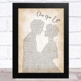 Michael Buble Close Your Eyes Man Lady Bride Groom Wedding Song Lyric Music Art Print