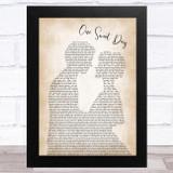 Mariah Carey One Sweet Day Man Lady Bride Groom Wedding Song Lyric Music Art Print