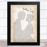 Bob Dylan Wedding Song Man Lady Bride Groom Wedding Song Lyric Music Art Print