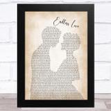 Lionel Richie Endless Love Man Lady Bride Groom Wedding Song Lyric Music Art Print