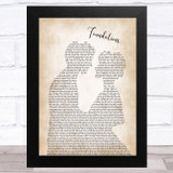 Kate Nash Foundations Man Lady Bride Groom Wedding Song Lyric Music Art Print