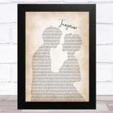 Jimmy Dorsey Tangerine Man Lady Bride Groom Wedding Song Lyric Music Art Print