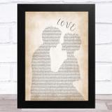 Nat King Cole L-O-V-E Man Lady Bride Groom Wedding Song Lyric Music Art Print