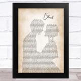 Dierks Bentley Black Man Lady Bride Groom Wedding Song Lyric Music Art Print