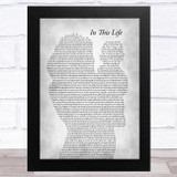 Israel Kamakawiwo'ole In This Life Mother & Baby Grey Song Lyric Music Art Print
