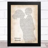Queen Bohemian Rhapsody Mother & Child Song Lyric Music Art Print