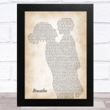 James Arthur Breathe Mother & Child Song Lyric Music Art Print