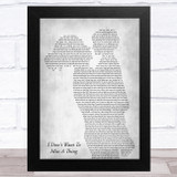 Aerosmith I Don't Want To Miss A Thing Mother & Child Grey Song Lyric Music Art Print