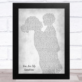 Johnny Cash You Are My Sunshine Mother & Child Grey Song Lyric Music Art Print