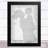 Callum Scott & Leona Lewis You Are The Reason Mother & Child Grey Song Lyric Music Art Print