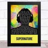 Erasure Supernature Multicolour Man Headphones Song Lyric Music Art Print