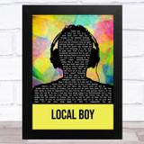The Rifles Local Boy Multicolour Man Headphones Song Lyric Music Art Print