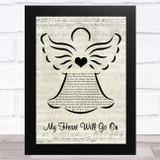 Celine Dion My Heart Will Go On Music Script Angel Song Lyric Music Art Print