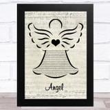 Shaggy Angel Music Script Angel Song Lyric Music Art Print
