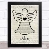 Donna Taggart Mom Music Script Angel Song Lyric Music Art Print