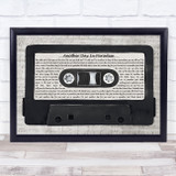 Phil Collins Another Day In Paradise Music Script Cassette Tape Song Lyric Music Art Print