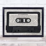 Eels It's a Motherfucker Music Script Cassette Tape Song Lyric Music Art Print