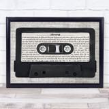 Snow Patrol Lifening Music Script Cassette Tape Song Lyric Music Art Print