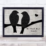 Billy Paul Me And Mrs. Jones Lovebirds Music Script Song Lyric Music Art Print