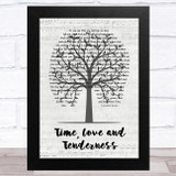 Michael Bolton Time, Love and Tenderness Music Script Tree Song Lyric Music Art Print