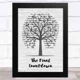 Europe The Final Countdown Music Script Tree Song Lyric Music Art Print
